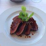 Lakeland's Venison Haunch, Maple & Parsnip Purée, Brown Butter Fiddleheads, Cipollini Jus