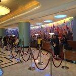 Hotel main reception lobby