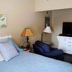 Master bedroom in the Sandstone Suite