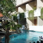 hotel rooms/pool access