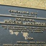 Plaque of historical status