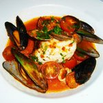 Sea Bass With Shellfish in a Light Tomato Broth