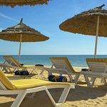 Beach sunbeds