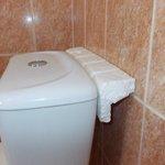 Room 10 bathroom cistern with polystyrene wedge