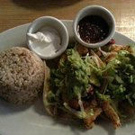 Crusted Flounder with blood orange salsa  and guacamole