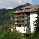 Blick auf das Hotel Berghof Brunner