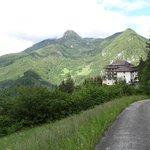Blick auf den Berghof Brunner
