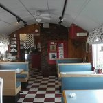 Interior of Three Dogz Diner