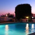 The pool at twilight