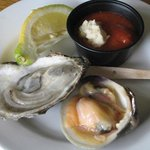Raw oyster and clam