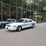 Police presence by hotel