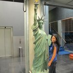 Lady Liberty in the lobby