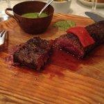 Hanger steak, rare.  Excellent