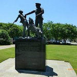 Statue of police dogs set on civil rights demonstrators in Birmingham, Alabama.