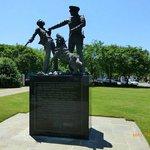 Statue of police dogs set on civil rights demonstrators in Birmingham, Alabama.