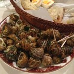 Delicious snail starter.