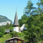 View of the little church from our balcony, Sunstar Wengen
