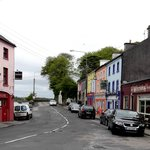 View of Kinvara standing in street in front of Fallon's B&B.