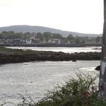 The view back to Kinvara from Dunguaire Castle.  Fallon's B&B would be near the photo's left edg