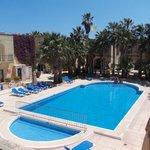 View of Ta Sbejha's swimming pool