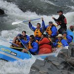 Rafting on the American River.