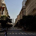 Diagonal Norte avenue in the heart of Buenos Aires