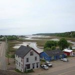 parrsboro view fro the roof - Main & Station  The tide is out
