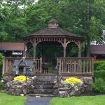 Gazebo on the grounds to relax in