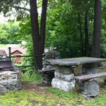 Picnic area with a grill