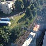 train line at rear