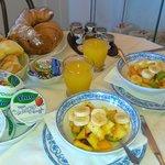 beautiful and healthy breakfast