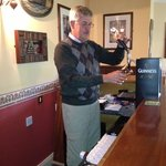 Draught Guinness in the bar!