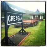 Creagan railway station, in the grounds