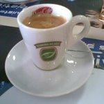 O café tirado com cuidado..