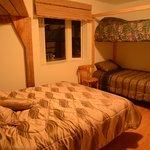 A room (1 Queen + 2 singles beds per room)