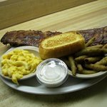 Babyback Ribs, Macaroni, and Fried Green Beans