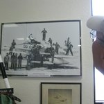 One of the photos in the Vietnam era display