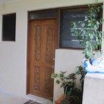 External door to room