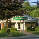 Citizens Bank directly across the street