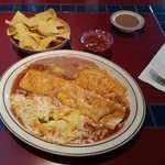 The Beef Burito with Rice & Beans