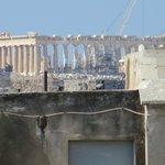 Parthenon peek-a-boo view from the bathroom!