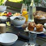 Breakfast in the Japanese garden