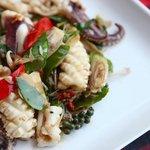 Phad Cha Pla Meuk at Baba Sould Food Top Restaurants in Phuket Thailand