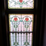 Stained glass window: roses