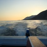 Sunset in Sfakia - returning from beach