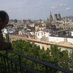 Uitzich over Barcelona city