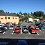 beautiful parking lot view