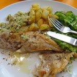 Белая рыба с гарниром