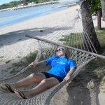 Relaxing at Plantation Island
