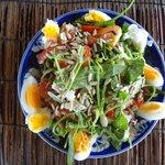 fresh morning glory salad